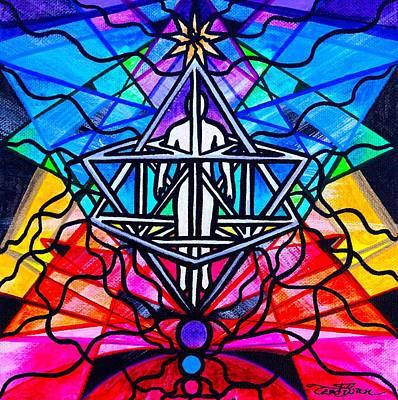 Spiritual Painting - Merkabah by Teal Eye  Print Store