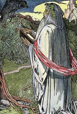 Blackbird Drawing - Merlin The Magician, 1923 by Granger