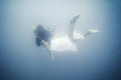 Floating Girl Photograph - Mermaid by Carlos Palacios