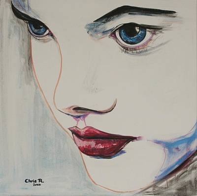 Portrait Painting - Mermaid by Christel  Roelandt