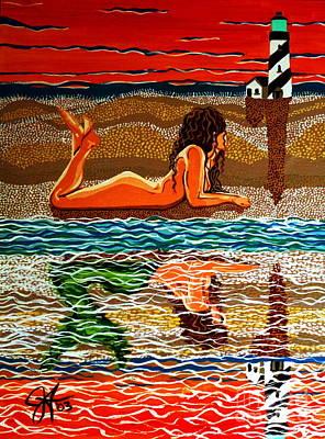 Mermaid Day Dreaming  Original by Jackie Carpenter
