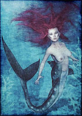 Floating Girl Painting - Mermaid Dreams by Maynard Ellis
