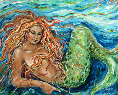 Mermaid Sleep New Print by Linda Olsen
