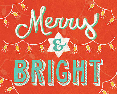 Merry And Bright Print by Mary Urban