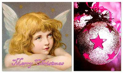 Merry Christmas Angel Print by The Creative Minds Art and Photography