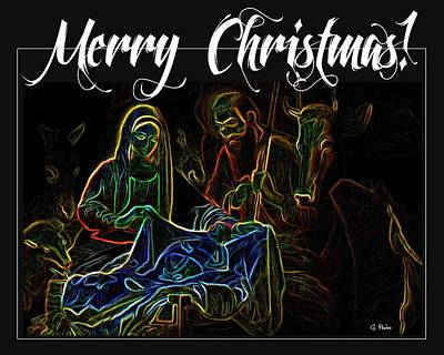 Merry Christmas Print by George Pedro