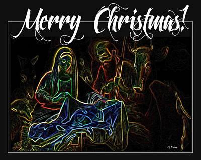 Manger Digital Art - Merry Christmas by George Pedro