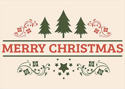 Merry Christmas Painting - Merry Christmas Greeting Card by Florian Rodarte