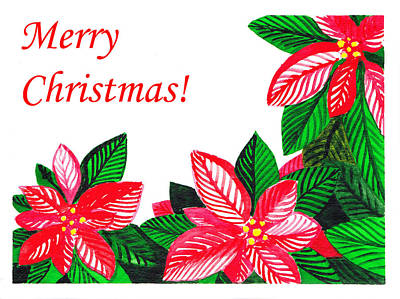 Merry Christmas Print by Irina Sztukowski
