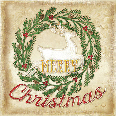 Christmas Painting - Merry Christmas by Jennifer Pugh