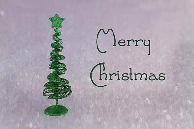 Merry Christmas Print by Kim Hojnacki