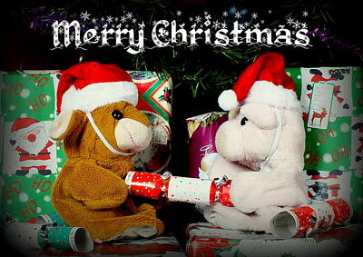 Pig Photograph - Merry Christmas by Piggy