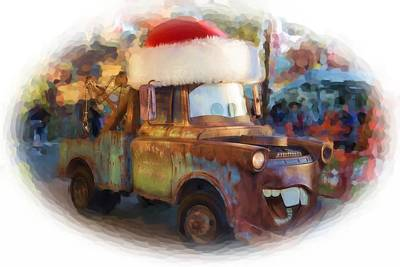 Merry Christmas Tow Mater  Print by Heidi Smith