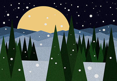 Merry Christmas Print by Val Arie