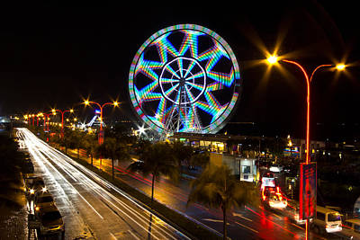 Merry Ferris Wheel Print by Troy Espiritu