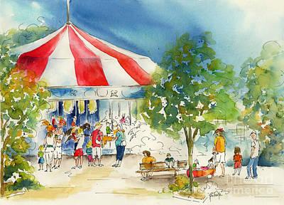 Merry Go Round Print by Pat Katz