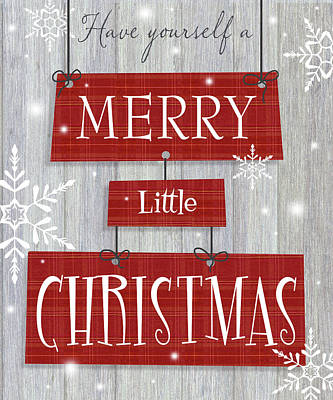 Merry Little Christmas Print by P.s. Art Studios