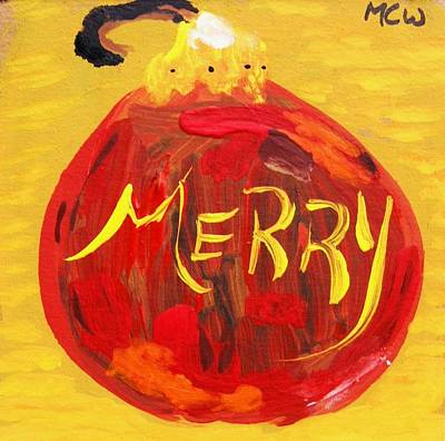 Simplicity Drawing - Merry by Mary Carol Williams