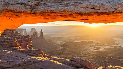 Nature Photograph - Mesa Arch At Sunrise by Pierre Leclerc Photography