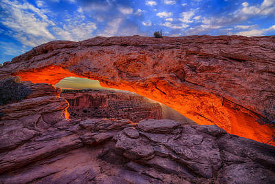 Nature Photograph - Mesa Arch Glow by Greg Norrell