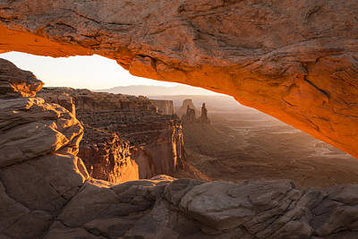 Golden Photograph - Mesa Arch Sunrise 5 - Canyonlands National Park - Moab Utah by Brian Harig