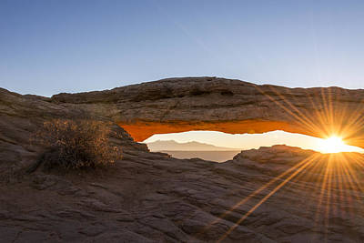 Limited Edition Photograph - Mesa Arch Sunrise 7 - Canyonlands National Park - Moab Utah by Brian Harig