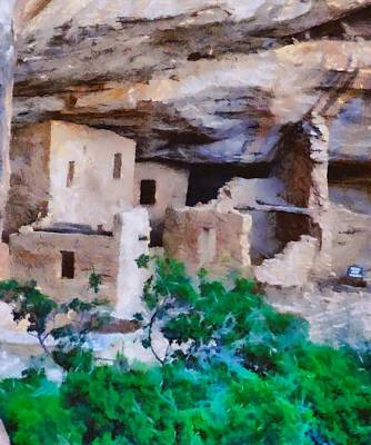 Tourist Attraction Mixed Media - Mesa Verde Ruins by Dan Sproul