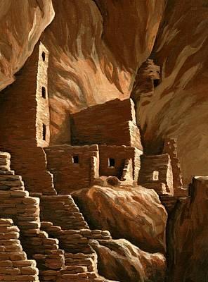 Mesa Verde Tower House Print by Darla Hallmark