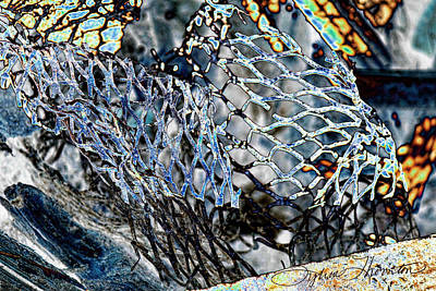 Industrial Photograph - Meshed by Sylvia Thornton