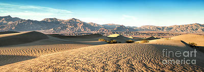 Drought Photograph - Mesquite Dunes Pano by Jane Rix