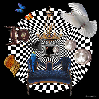 Chess Digital Art - Mess In Wonderland  by Mark Ashkenazi