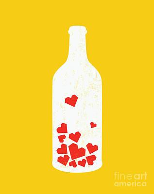 Love Message Print by Nava Seas