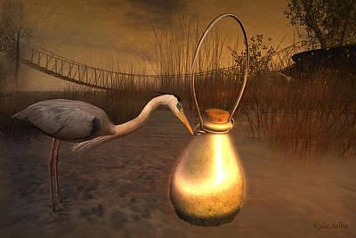 Loon Digital Art - Message In A Bottle by Kylie Sabra