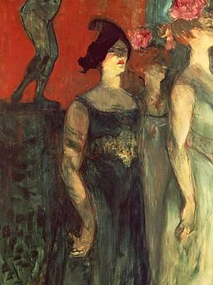 Evening Dress Painting - Messalina by  Henri de Toulouse Lautrec