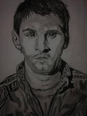 Messi Drawing - Messi by Seeba Pillai