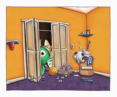 Messy Monsters Print by Dana Alfonso