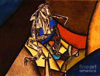 Grasshopper Drawing - Metal Grasshopper  by Tasha Art