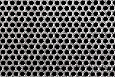 Meshed Photograph - Metal Grill Dot Pattern by Simon Bratt Photography LRPS