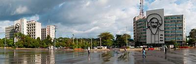 Metal Sculptures Of Camilo Cienfuegos Print by Panoramic Images