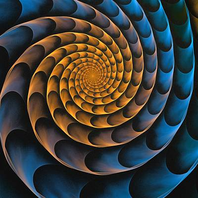 Brass Digital Art - Metal Spiral by Anastasiya Malakhova