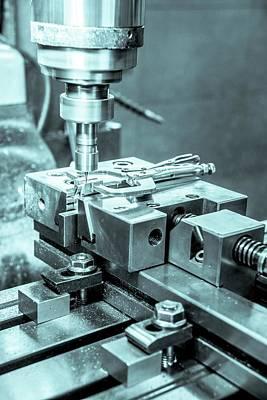 Metal Tooling Shop Floor Print by Photostock-israel