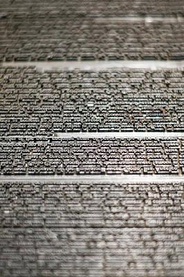 Metal Type Print by Chris Bordeleau