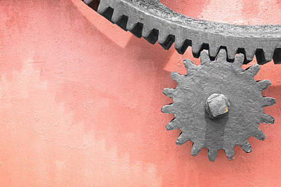 Metallic Gear Wheel Print by Mikel Martinez de Osaba