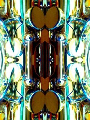 Socal Mixed Media - Metallic Shinbone by Rom Galicia