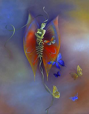 Reverse On Glass Painting - Metamorphose / Metamorphosis by Annelie Dachsel-Widmann