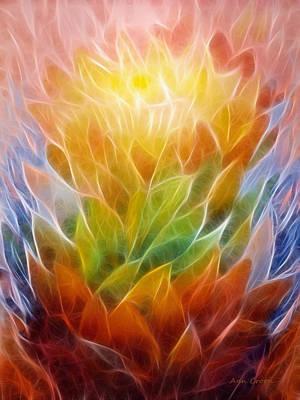 Colorful Abstract Digital Art - Metamorphosis by Ann Croon