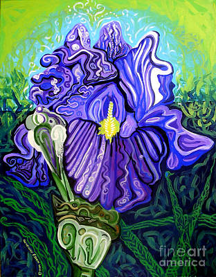 Metaphysical Painting - Metaphysical Iris by Genevieve Esson