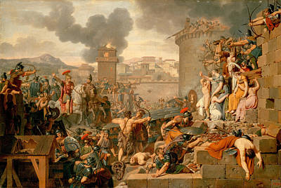 Caraffe Painting - Metellus Raising The Siege by Armand-Charles Caraffe