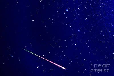 Meteor Eta Aquarid Meteor Shower Print by Thomas R Fletcher
