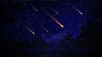 Meteor Shower Print by Andrzej Wojcicki